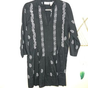 Soft Surroundings | Black Paisley Tunic